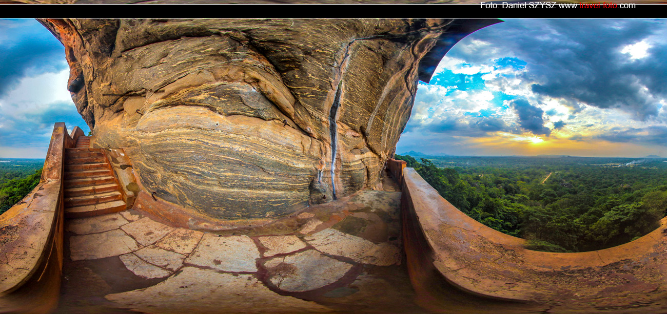 Sigiriya-Sri-lanka-szysz-góra-travel-zachód